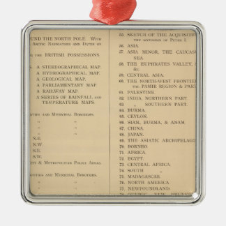 Stanford's London atlas of universal geography Christmas Ornament