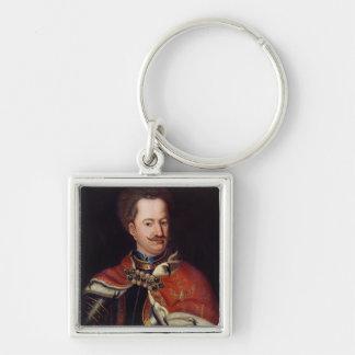 Stanislaw I Leszczynski Silver-Colored Square Key Ring