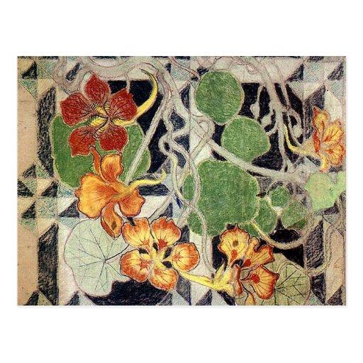 Stanisław Wyspiański ~ Art Nouveau ~ Nasturcje Postcard