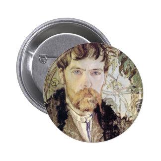 Stanislaw Wyspianski Self Portrait, 1902 Button