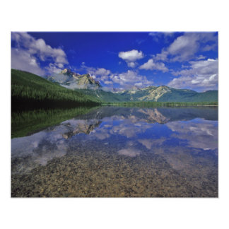 Stanley Lake in the Sawtooth Mountains of Idaho Poster