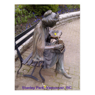 Stanley Park Statue Postcard
