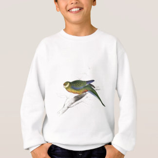Stanley Parrakeet (young male) by Edward Lear Sweatshirt