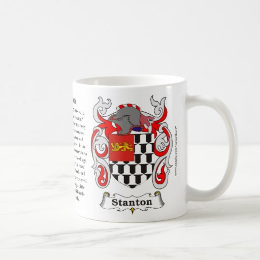 Stanton, the Origin, the Meaning and the Crest on Mug