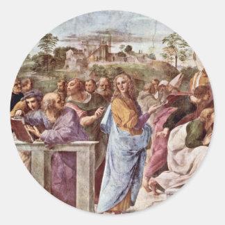 Stanza Della Signatura In The Vatican For Pope Jul Round Sticker