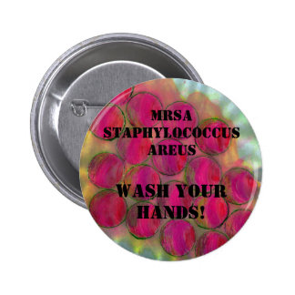 Staph - Wash Your Hands! - Customized - 6 Cm Round Badge