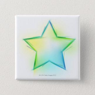Star 15 Cm Square Badge