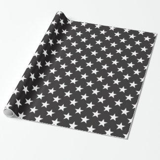 Star 1 Black and White Wrapping Paper
