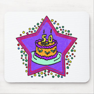 Star 50th Birthday Gifts Mousepad