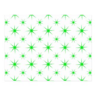 Star 5 Green Postcard