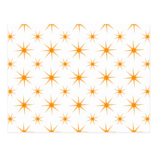 Star 5 Orange Postcard