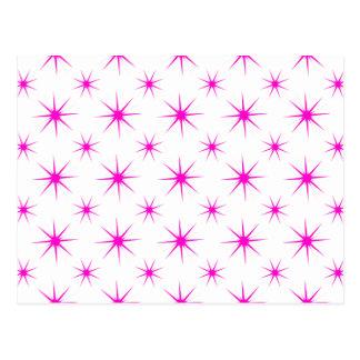 Star 5 Pink Postcard