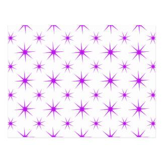 Star 5 Purple Postcard