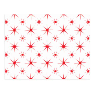 Star 5 Red Postcard