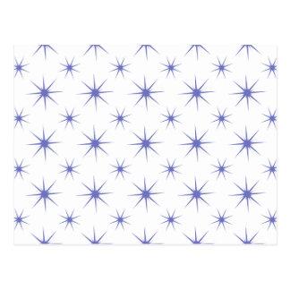 Star 5 Violet Tulip Postcard