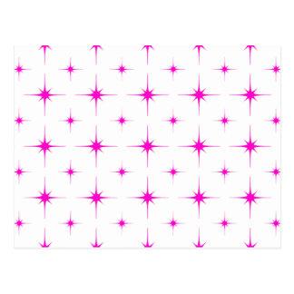 Star 6 Pink Postcard