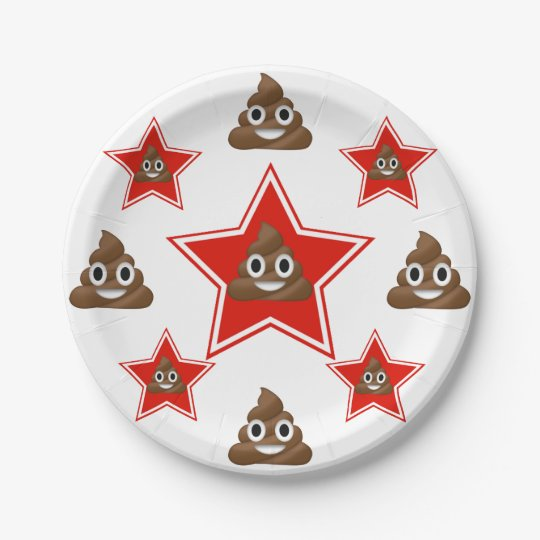 Star a Emoji Poo Paper Plate