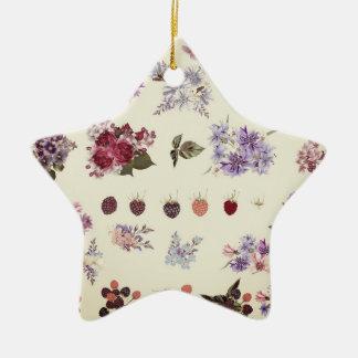 Star acrylic ornament : Folk