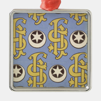 Star and Clef ecclesiastical wallpaper design Christmas Ornament