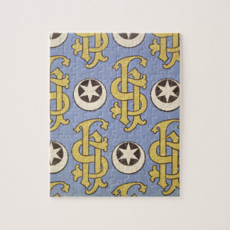 Star and Clef ecclesiastical wallpaper design Jigsaw Puzzle
