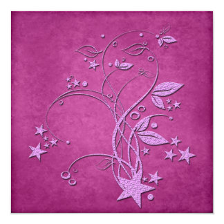 Star and Leaves Invitation