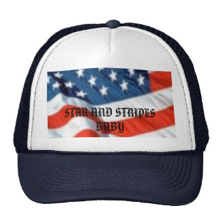 STAR AND STRIPES     BABY TRUCKER HAT