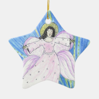 Star  Angel Christmas Ornament