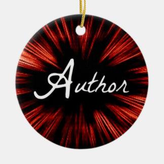 Star Author Christmas Ornament