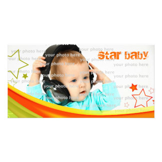 Star Baby Personalized Photo Card