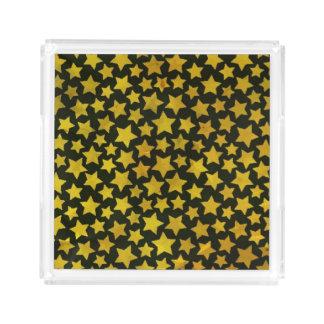Star background acrylic tray