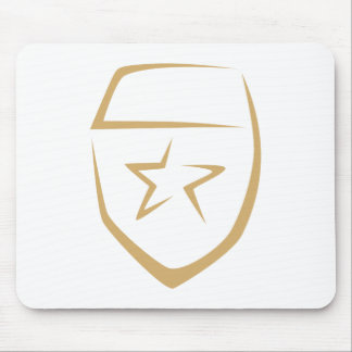 Star Badge for Police's Logo in Swish Drawing Mouse Pad
