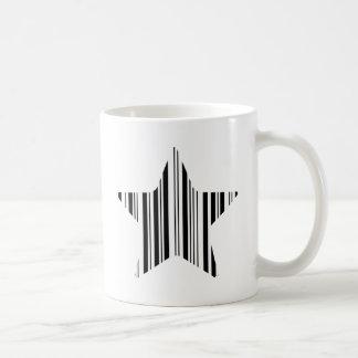 STAR BAR CODE Stellar Barcode Pattern Design Basic White Mug