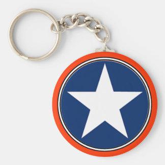 Star Basic Round Button Key Ring
