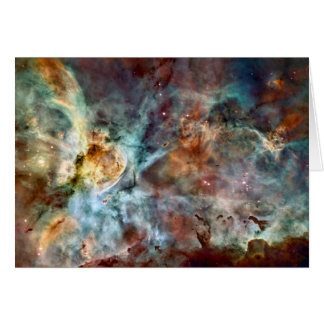 Star birth & death in the Carina Nebula Greeting Card