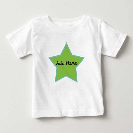 Star Blue and Green Baby Boy Tee