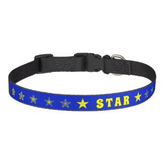 STAR blue and yellow stars Pet Collar