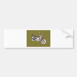 Star Bronze Bike Bumper Sticker