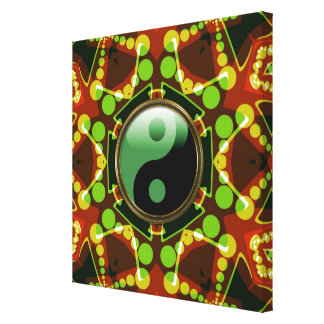 Star Bubbles New Age Yin Yang Wrapped Canvas Stretched Canvas Prints