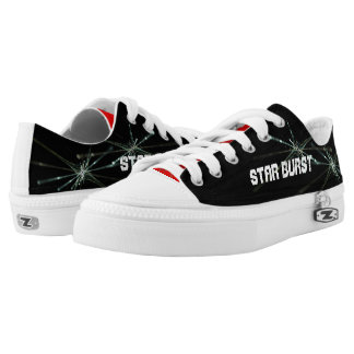 Star Burst Sneakers Black Red Grey