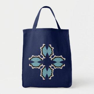 Star Butterflies / Tile Art Tote Bag