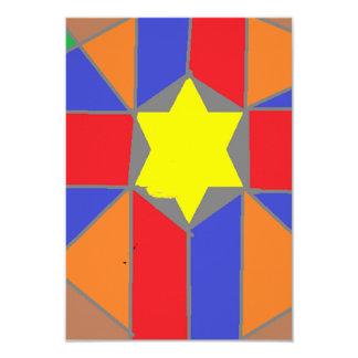 Star Card 9 Cm X 13 Cm Invitation Card
