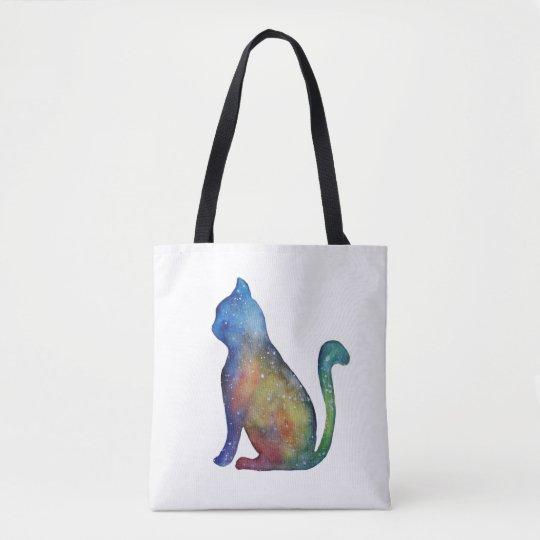 Star Cat Custom All-Over-Print Tote Bag