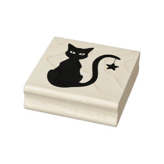 Star Cat Rubber Stamp