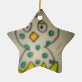 star chick in its shell ceramic star decoration