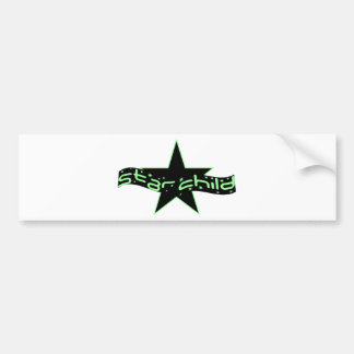 Star Child Bumper Sticker