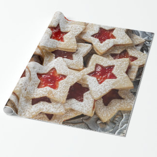 Star Christmas Cookies Wrapping Paper