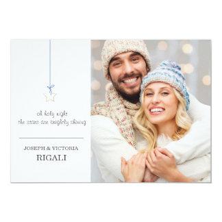 Star Christmas Photo Greeting Card - Print 13 Cm X 18 Cm Invitation Card