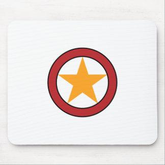 Star Circle Badge Mouse Pad