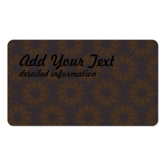 star circular pattern 2 pack of standard business cards