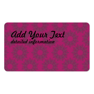 star circular pattern  magenta pack of standard business cards